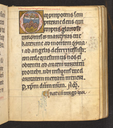 Historiated Initial With The Burial Of St. Katherine, In 'The De Brailes Hours'